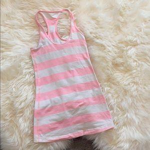 Pink stripes lulu lemon tank